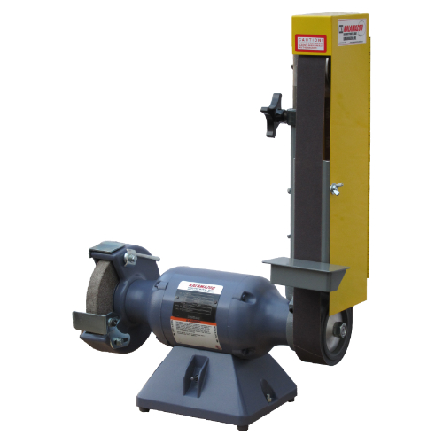 2SK7 2 X 48 INCH INDUSTRIAL COMBINATION BELT SANDER, 7 inch grinding wheel