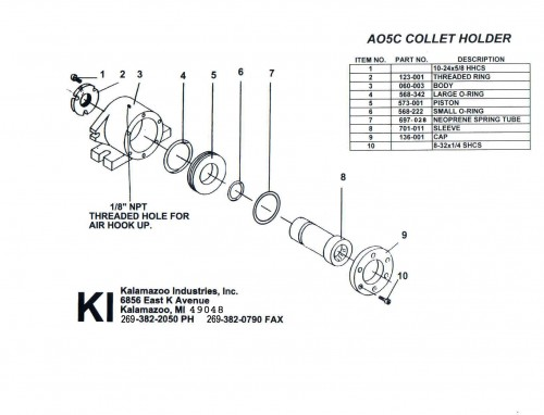 AO5C 5C Air operated collet fixture, Air operated collet fixture, air operated collet fixture, fixture