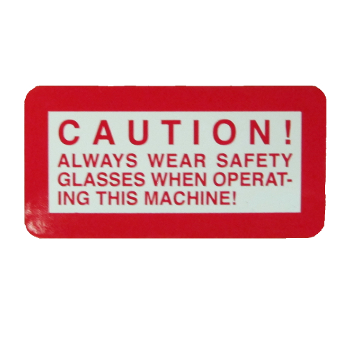 Caution sticker, 00127086 abrasive chop saw sticker kit, 00127086 abrasive chop saw sticker kit