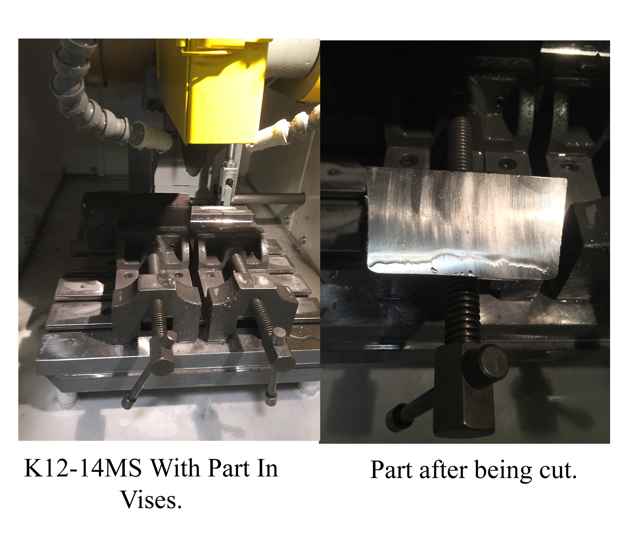 K12-14MS Test Cuts, Kalamazoo Industries, Metallurgical Sectioning Saw, Abrasive Saws