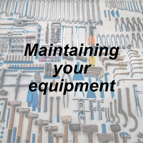 Maintaining your equipment, equipment, Kalamazoo Industries, maintaining , Kalamazoo