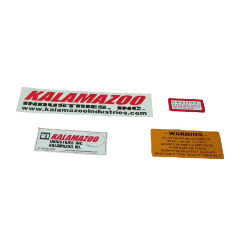 00127084 Kalamazoo sander and grinder label kit, Kalamazoo sander and grinder label kit, sander and grinder label kit, Kalamazoo, label kit