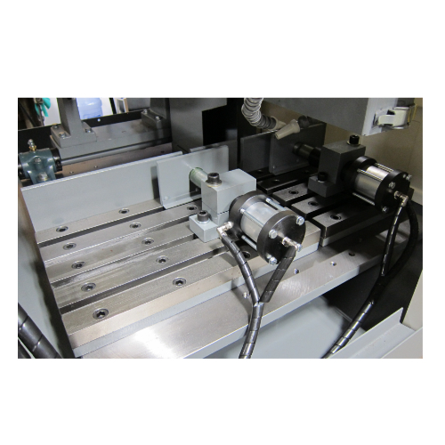 optional t-slot table and air operate jaw vises